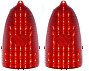 1955 Chevy Belair 210 150 Nomad Taillight Led Backup Sequential Lenses Set