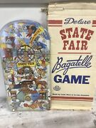 Vintage Usa 1950's 1953 Deluxe State Fair Bagatelle Pinball Game With Box