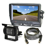 Rearview Reverse Parking Camera + Monitor For Rv Motorhome Tractor Bus Van