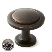 Kitchen Cabinet 1-1/4 Round Knobs Pull Handle Hardware R120 Oil Rubbed Bronze