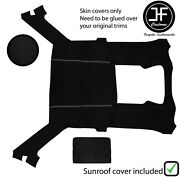 White Stitch Luxe Suede Headliner Sun Roof Cover For Bmw E30 81-92 Coupe
