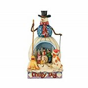 Jim Shore Heartwood Creek - Chilly Dog - Chilly Dog Snowman Diorama