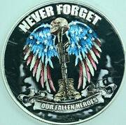 Never Forget Our Fallen Heroes American Silver Eagle 1oz .999 Silver Dollar Coin