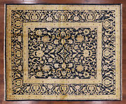 8' 0 X 9' 8 Signed Peshawar Hand Knotted Wool Rug - H7226