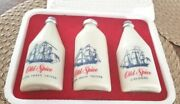 Vintage Old Spice Gift Set Shulton Star Top Shave Lotion Cologne Talcum With Box