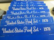 5 1970-s Us Proof Set From Our Vault 5 Sets Pp190
