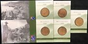 1999 Set Of 5 Carded One Dollar Coins Last Anzacs Mintmarks Csmba