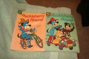 Lot Of {2} Vintage Dell Comic Books {huckleberry Hound}