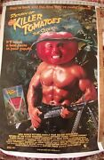 The Return Of The Killer Tomatoes Nos 27x40 Poster 1988cr,horror,sci Fi,movie