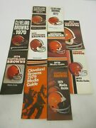 10 1970-1979 Cleveland Browns Media / Press Guide Lot
