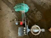 Fisher 8 Butterfly Valve 316sst Cl600 E-disc W Fisher Actuator Size 60 Type 105