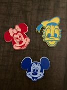 Vintage Lot 3 Walt Disney Productions Rubber Refrigerator Magnets Mickey Mouse