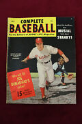 1952 July Complete Baseball Magazine Richie Ashburn Cover 82 Pages Phillies Ex+