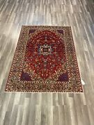 On Sale Semi Antique Beautiful Genuine Vintage Hand Knotted Area Rug 5x73135