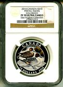 2014 Canada S10 Pintail Ducks Colorized Ngc Pf70 Ultra Cameo Box And Coa Ogp