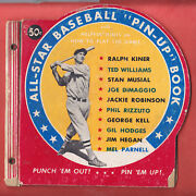 1950 All-star Baseball Pin-ups Complete Book Of 10