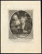 Antique Master Print-allegory-dressing Table-old-young-woman-crepy-ca. 1700