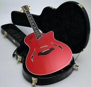 Taylor T5c Custom Crimson Red Acoustic Electric And Taylor Hard Case