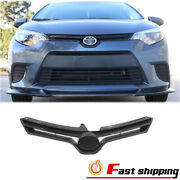 Fit Toyota Corolla 2014 2015 2016 Front Upper Bumper Black Grille Grill Assembly
