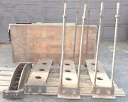 Antique Rumsey Veneer Press Cast Iron Frame Industrial Steam Punk Table Factory
