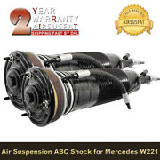 2x Front Hydraulic Abc Strut For Mercedes W221 S600 Class 2213206113 2213206213