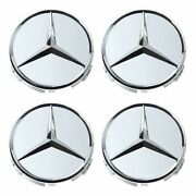 🔥genuine Set Of 4 Wheel Center Hub Cap Cover For Mercedes W203 W164 W220 R230🔥