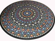 48 X 48 Marble Dining Center Table Top Semi Precious Stones Inlay Work