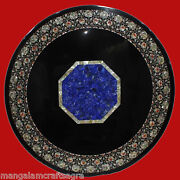 48 Marble Coffee Table Top Lapis Inlay Pietra Dura Art Home And Garden