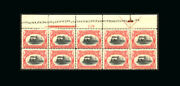 Us Stamp Mint Og, Vf S295 Top Plate Blk.10 With Printers Initials, Inscription