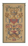 Vaux Le Vicomte Medieval Coat Of Arm French Tapestry Wall Art Hanging 64x34 Inch