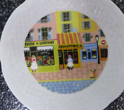 Philippe Deshoulieres Limoges Canpe Dessert Plate Store Fronts Boulangerie