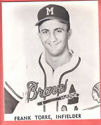 1957 Milwaukee Braves 8 X 10 Glossy Team Issue Frank Torre