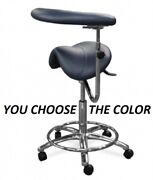 Galaxy 2085 Waterfall Saddle Dental Hygienist Assistant's Seat Stool Chair