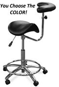 Galaxy 2055-r Waterfall Saddle Dental Assistant's Hygienist Seat Arm Stool Chair