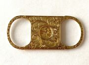 Antique Tabacco Cigar Cigarette Cutter 14k Yellow Solid Gold Floral Hand Etched