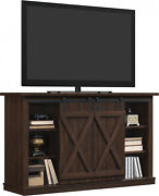 Rustic Tv Stand Console Up To 60 Barn Door Wood Farmhouse Entertainment Center