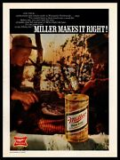 1970 Miller High Life Beer Can Jim Peck Wisconsin Fishing Guide Vintage Print Ad