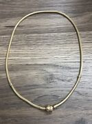 Ale Pandora Moments 3mm Snake Chain 17.5 14k 585 Yellow Gold Necklace 38.9grams