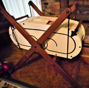 Butter Churn Vintage Large In One Family For 3-4 Generations. Or Cradle