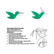Hummingbird Needle Threader - Add To Your Chatelaine, Needlebook Or Sewing Kit