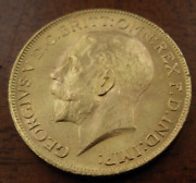 South Africa 1925 Sa Gold Sovereign Unc George V