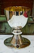 Nice Antique Hand Crafted French Chalice All Sterling Silver 5 3/4 Ht Cu209