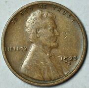 1923 S 1c Lincoln Wheat Cent Penny Us Coin Extra Fine Xf