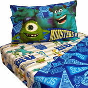 10 Disney Monsters Inc Twin Bed Sheet Sets Monster University Pennant Bedding Ac