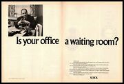 1970 Xerox Copier Machines Is Your Office Your Waiting Room 2-page Print Ad