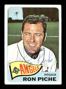 Ron Piche Autographed Signed Auto 1965 Topps Card 464 Los Angeles Angels 170536