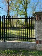 Aluminum Fence Commercial Spear Top 72 In T X 8ft W Assembled Panel Pool Code