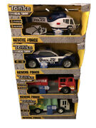 New Lot 4 Tonka Real Tough Rescue Force Helicopter Truck Firetruck Lights Sounds
