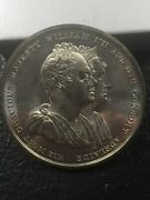 England 1831 Coronation Medal William Iv And His Consort Adelaide High Relief