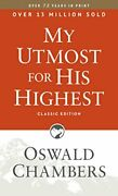 My Utmost For His Highest Classic Language Paperback By Chambers, Oswald Book